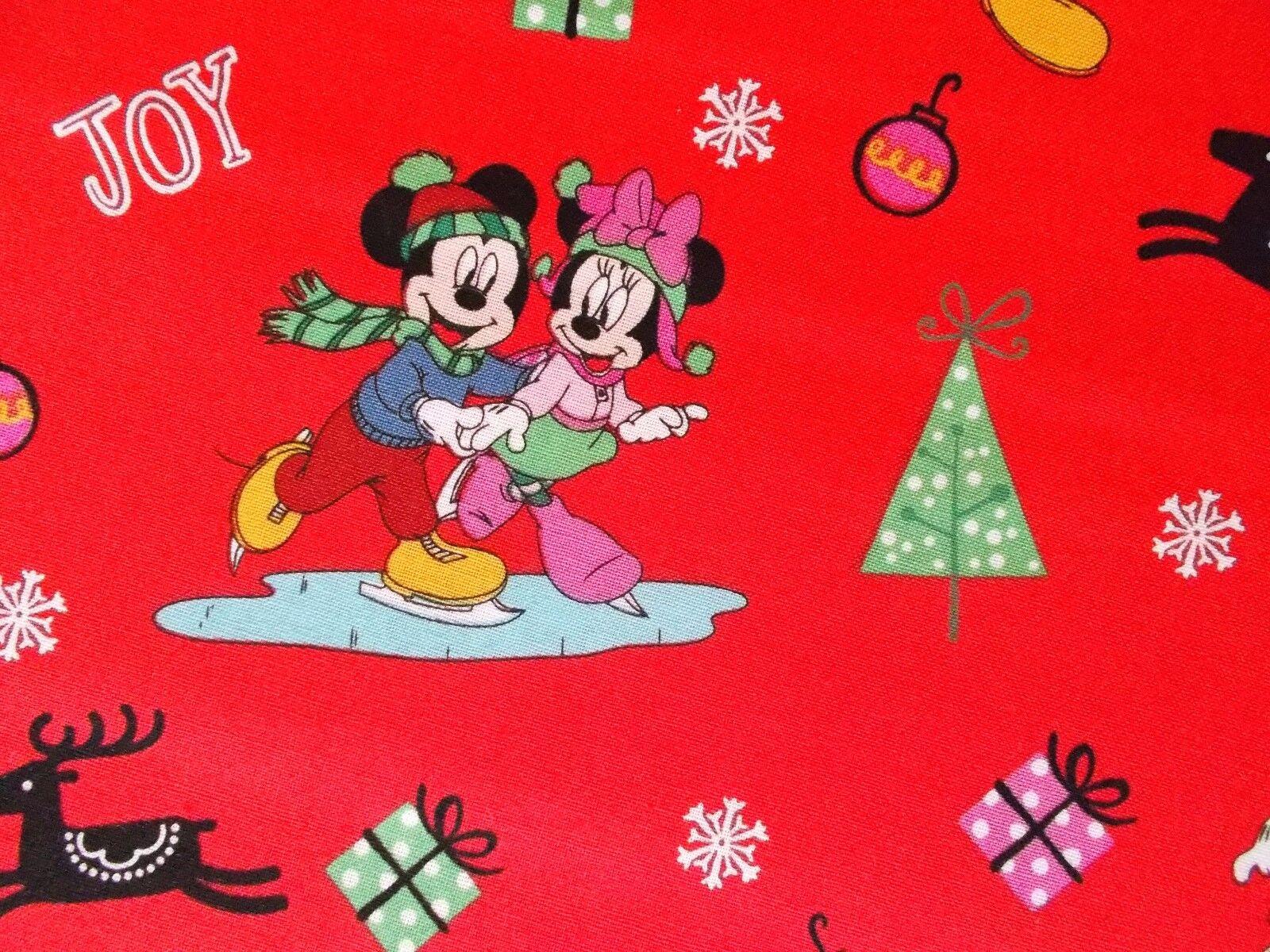 Disney Christmas Fabric Mickey Minnie Holiday Cheer Quilting