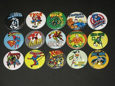 Super Heroes Buttons/ Pins 15