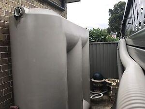 Rainwater tank and pump 2500L Panania Bankstown Area Preview