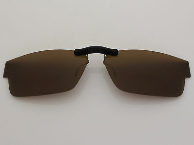 Custom Fit Polarized CLIP-ON Sunglasses For Airdrop (55) OX8046 55X18 Brown