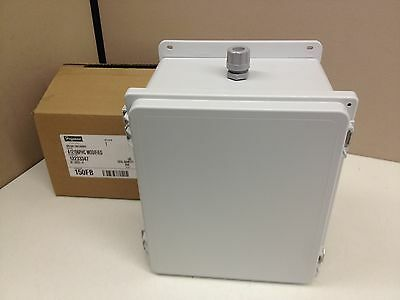 New Hoffman A12106phc Polypro Electrical Enclosure Box 12x10x6 Nema 4 4x 12 13
