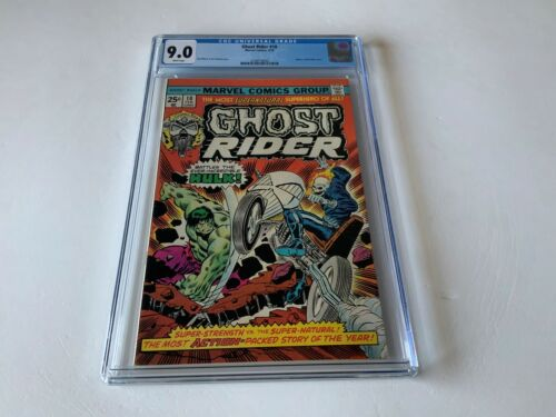 GHOST RIDER 10 CGC 9.0 WHITE PAGES INCREDIBLE HULK MARVEL COMICS 1975
