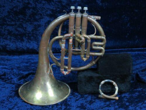 Antique CG Conn Eb/F? Mellophone Ser#105521 Unique Instrument!