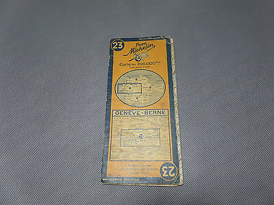 Card Michelin No 23 Geneva-Berne 1948/Collector Bibendum Vintage