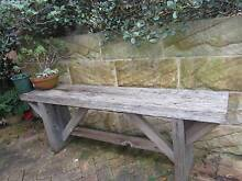 OUTDOOR BENCH RUSTIC BENCH HARDWOOD OUTDOOR SEAT LONG BENCH Naremburn Willoughby Area Preview