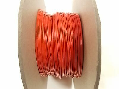 500 Foot 22 Awg Gauge Solid Tinned Copper Orange Flexible Thhw Wire Primary