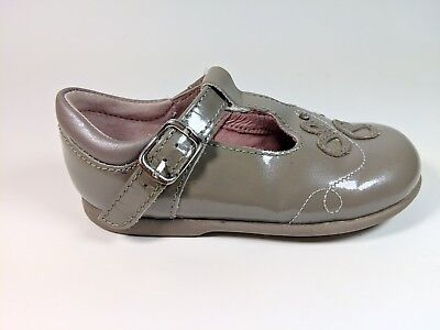 Startrite Infant Girls Taupe Patent Leather Shoes 4.5F Eu 21  Super Condition Taupe Patent Schuhe