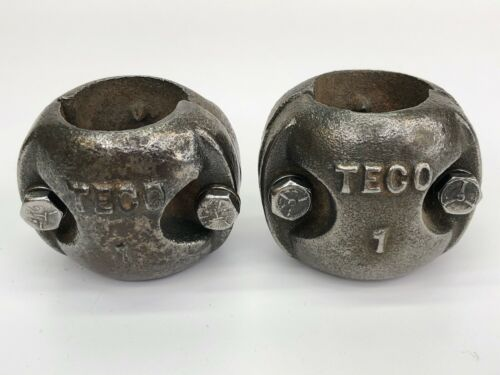 Pair Vintage Teco 1 lb.Cow Bull Horn Weights Cast Iron