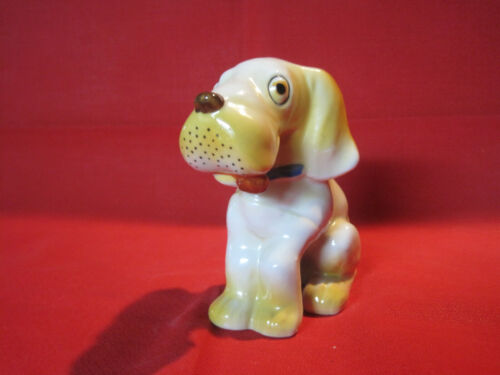 Vintage whimiscal googly eyed puppy dog figurine