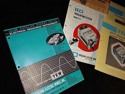 Vintage Yew Yokogawa Electric Testers Brochures Catalog Nyc 1963