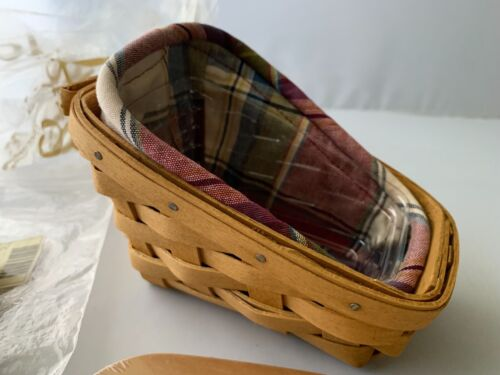 Longaberger Cilantro Basket 2003 Combo with Woodcraft lid, liner, and Protector
