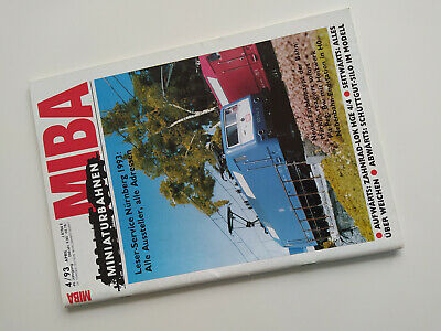 MIBA 04/93 April 1993 Ausgabe Thema u.a Märklin Aprilscherzlok Br 120 *sehr gut*