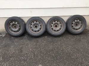 """VW 15"""" Winter Tires with Rims"""