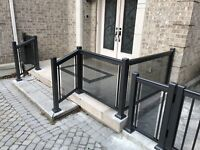 Aluminum railing glass gate fence column. Factory direct prices