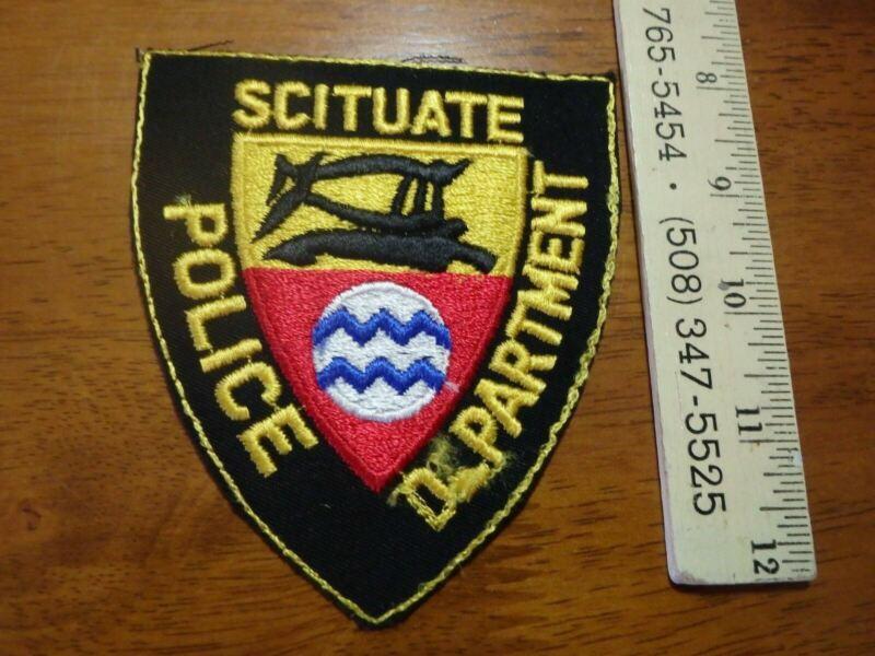 VINTAGE SCITUATE  Rhode Island POLICE DEPART  SHOULDER   PATCH OBSOLETE BXH 74