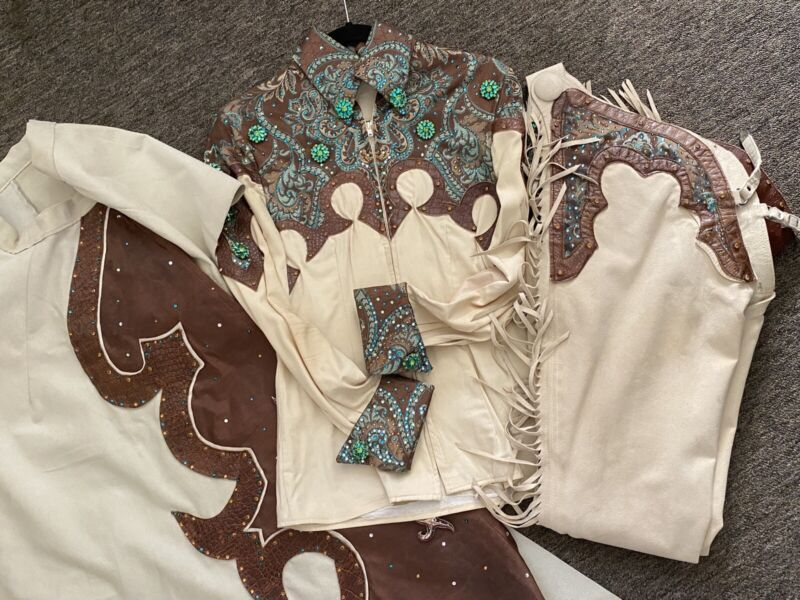 Western Show Outfit Package (Sidesaddle Skirt, Shirt, Chaps, Pad)