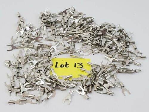 Lot of 265 Thomas & Betts 18-14 AWG Uninsulated Crimp Fork Lugs