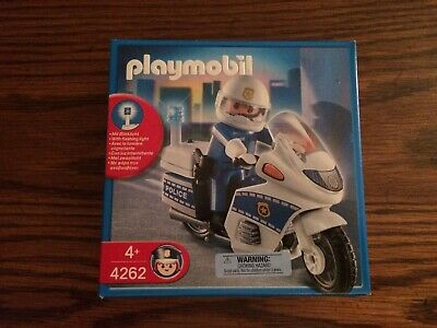 Playmobil 4262 Police Patrol - Police Motorcycle with Policeman New in Box!