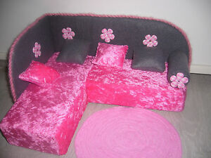 Couch, Bett , Puppenmöbel, Möbel .für Barbie Monster High