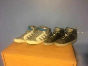 2 pairs of shoes size 10.5 and 11.5
