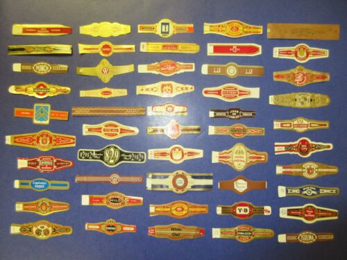 50  CIGAR BANDS  LABELS = ALL DIFFERENT = REAL NICE