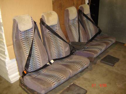 ** COACH SEATS WITH SEAT BELTS**