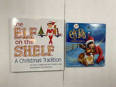 The Elf on the Shelf Girl HB Book Only + Elf Pets Reindeer Traditon 2 Books