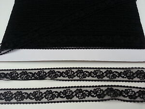 BLACK LACE EDGING 25 MM. SEWING, CRAFTS, MILLINARY. JUST $1.60 WITH FREE POSTAGE