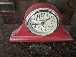 Wooden Table Desk Clock Mantle Decor Solid wood Shelf Quartz  Belwood