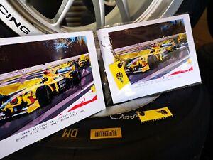 e2cfaf3cab2d Genuine Race Used Jordan 198 F1 car part bargeboard carbon fibre keyring