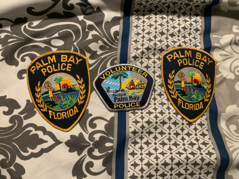 Palm Bay Florida Police Patch Collection of 3