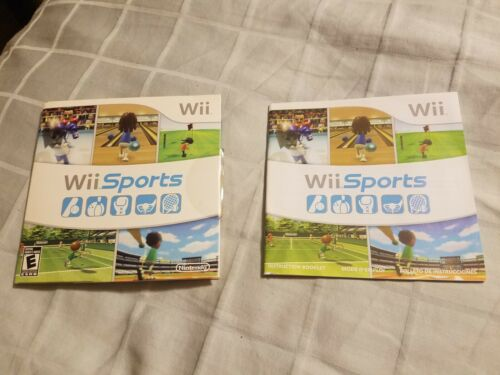 Wii Sports CASE MANUAL ONLY -- NO GAME Nintendo  - $8.00