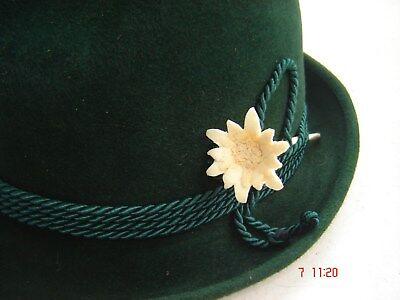 Edelweiß Holz handgeschnitzt  bayrischer Trachtenhut - - Bayrischer Hut