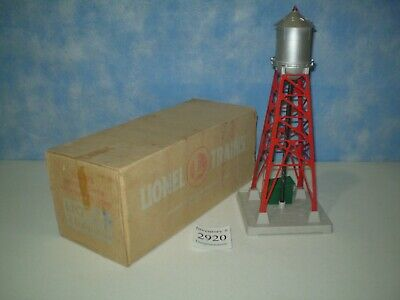 Classic Lionel Trains No 193 Industrial Red Water Tower W/ Blinking Lights + Box