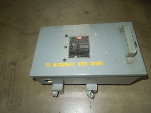 Fpe Cfp332 30a 3ph 3w 240v Fusible Cover Operated Type Plug-in Busplug Device