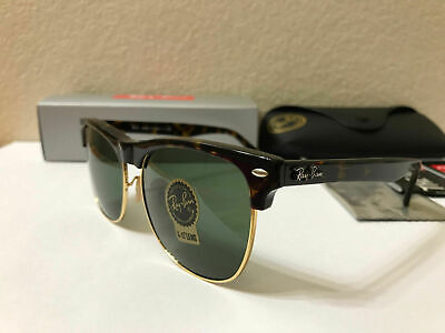 Ray Ban RB 4175 878 CLUBMASTER OVERSIZED Tortoise / Classic Green Lens (Clubmaster Shades)