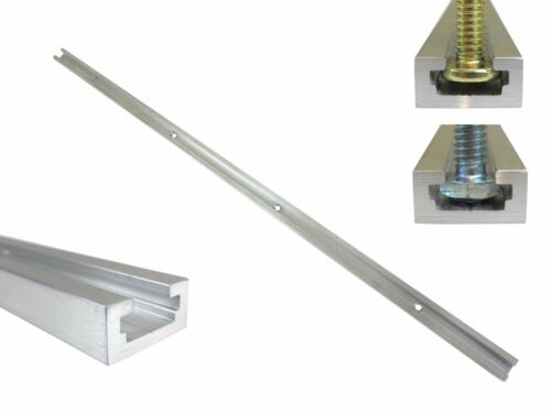 "T Track 24"" Aluminum 3/4"" x 3/8"" for 1/4"" & 5/16"" T Bolts & 1/4"" Hex Bolts"