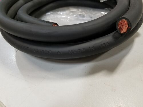 50/' #2 HIGHLY FLEXIBLE WELDING WHIP CABLE ORANGE 600V USA MADE EPDM COPPER AWG