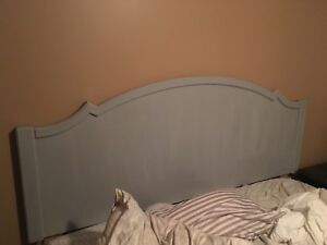 Grey king size headboard