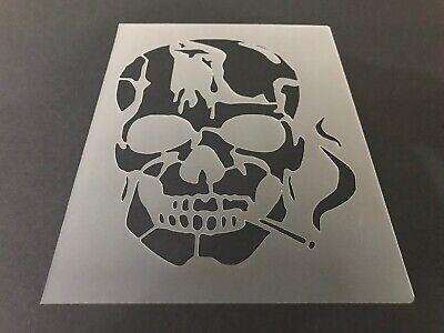 Skull #24 Stencil 10mm or 7mm Thick, Crafts, Skulls, Tattoo, Halloween, - Halloween Skull Stencils
