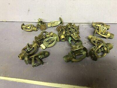 16 Brass Ceiling Sprinkler Heads Fire Equipment