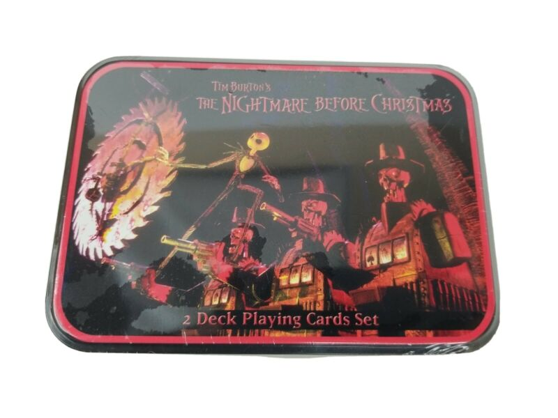 New Sealed 2 Decks Playing Cards The Nightmare Before Christmas Jack Skellington
