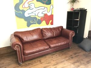 Couch sofa!! leather down filled maroon, great condition
