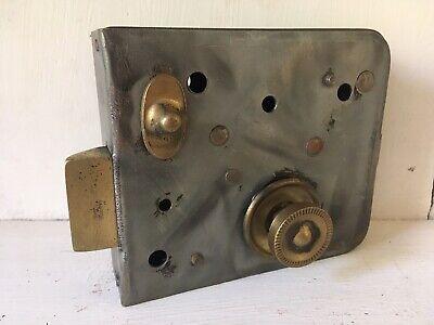 Steel Door Lock Rim Lock Brass Privacy Bolt Stripped Grey Steel Bathroom Bedroom