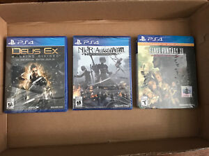 Sealed PS4 games for sale