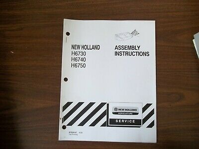 New Holland H6730 H6740 H6750 Assembly Instructions