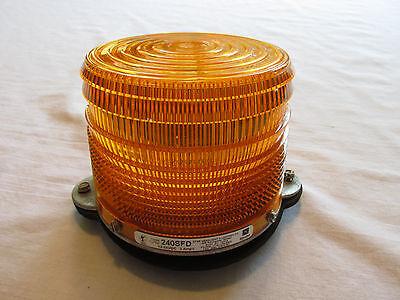 Star Warning Strobe Light Double Flash Die Cast Aluminum Base Model 240sfd