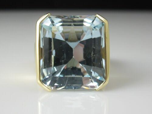 Aquamarine Ring 18K Yellow Gold Custom Estate Fine Jewelry 17.00ct Aqua $10,500