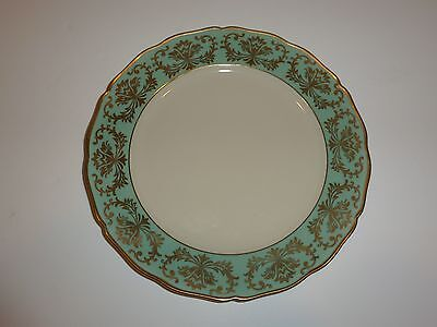 Elegant Vintage Seltmann Germany Plate, Green Band, Gold Tone Floral/Scroll Elegance Green Plate