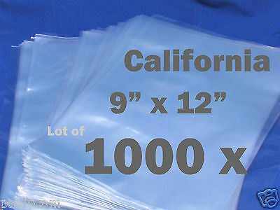 Lot Of 1000 Piece Heat Shrink Wrap Film Flat Bags 9x12 Candles Pvc 9 X 12